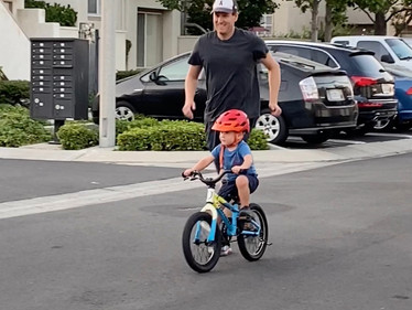 Why do we always forget this about learning? How my son learned to ride a bike before three.