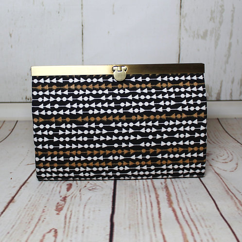 Roxy portemonnee - Goud-zwart-wit