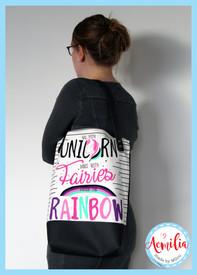 Unicorn and fairies tote €39,95