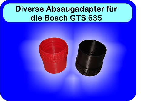 Diverse Absaugadapter für Bosch GTS 635