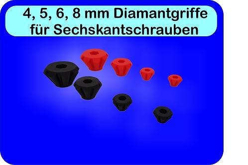 Diamantgriffe für 4,5,6 oder 8mm Schrauben