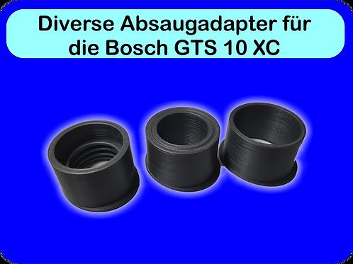 Diverse Absaugadapter für Bosch GTS 10 XC