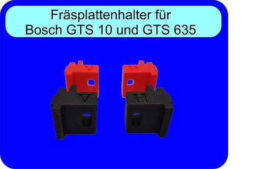 Fräsplattenhalter GTS 10XC und GTS 635 sowie Scheppach HS105