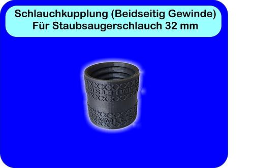 Kupplung für Staubsaugerschlauch 32 mm (Doppelgewinde)