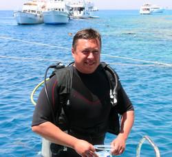 Portrait of an handsome caucasian scuba