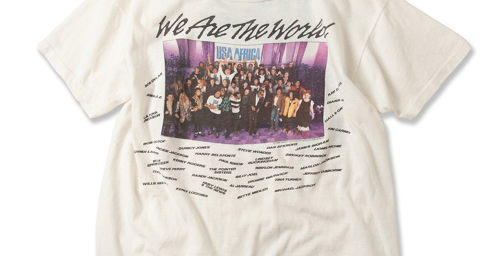 1985年 We are the world Tシャツ USED