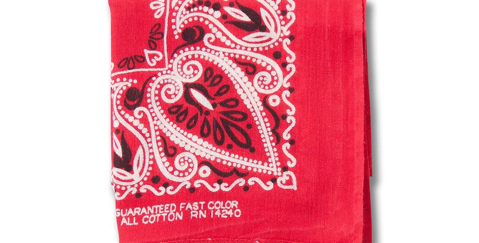 1970年代 ビンテージ バンダナ RN14240 RED 50cm x 49cm