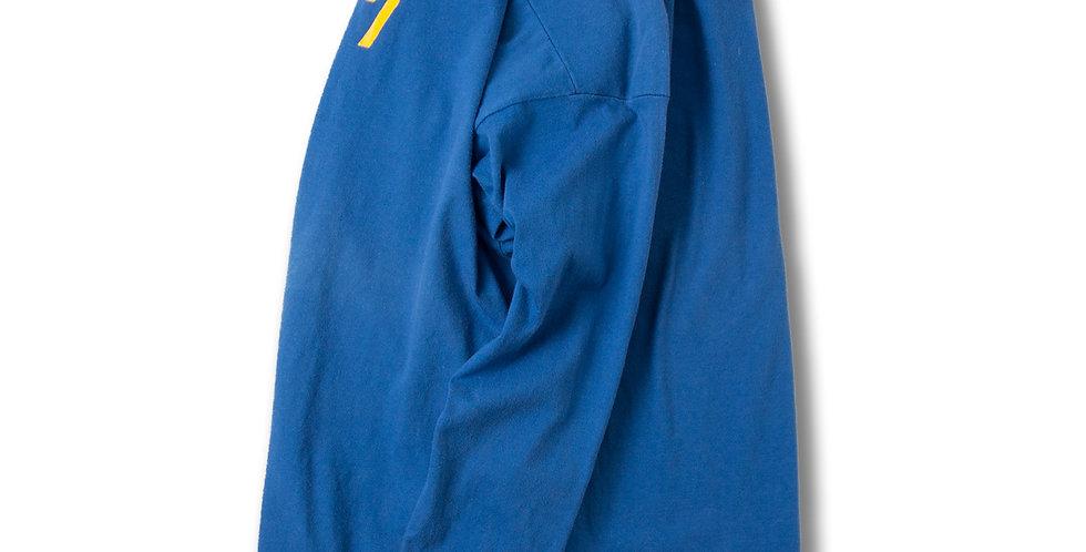 1980年代 UNKNOWN フットボールTシャツ ブルー コットン100%