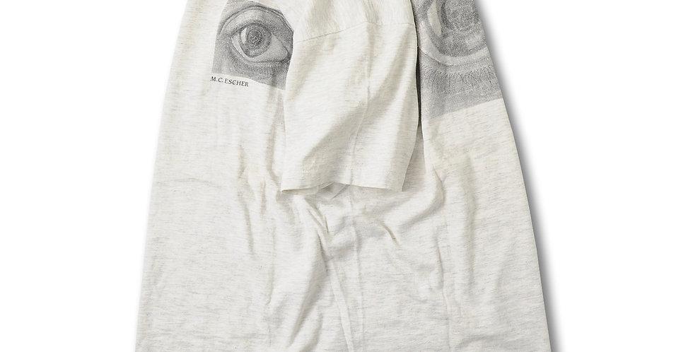 1991年製 MCエッシャー EYEプリント Tシャツ ONEITA MADE IN USA