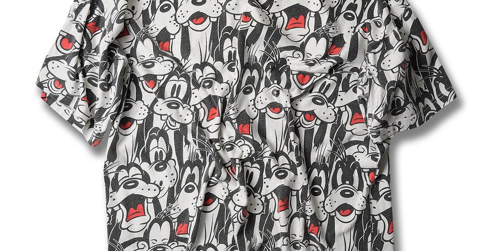 1990年代 ディズニーランド スーベニア グーフィー 総柄 Tシャツ