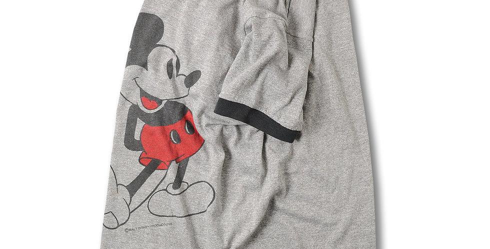 1970年代 TROPIX TOGS ミッキーマウス 染込み リンガーTシャツ