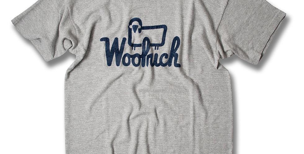 1970年代 チャンピオン ブルーバータグ WOOLRICH プリント Tシャツ