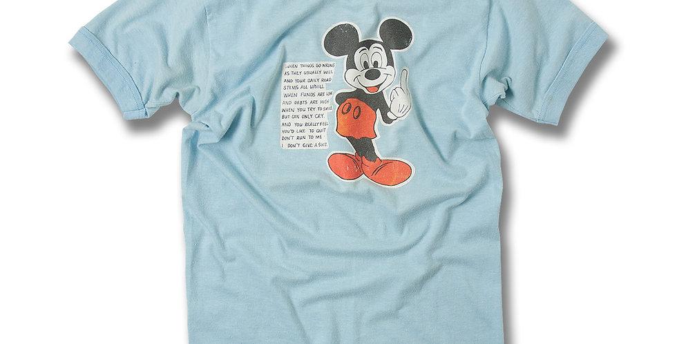 1970年代 DON'T QUIT ミッキー Tシャツ