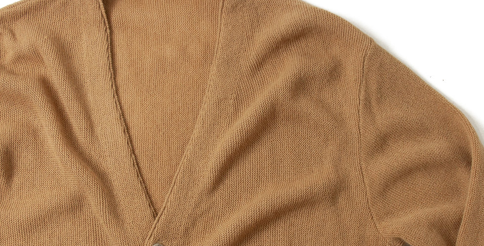 Vintage Acrylic Knit Cardigan With Ralph Lauren Concho Button CCC-04