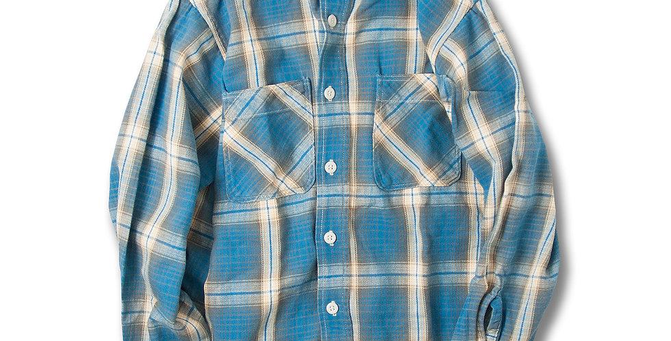 1970年代 BIGMAC フランネルシャツ ライトブルー グレー