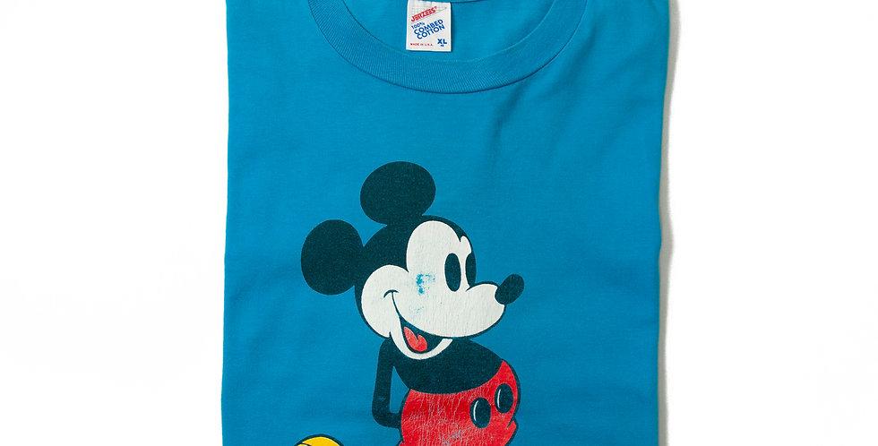【XL】1980年代 ビンテージ ミッキーマウス Tシャツ M-12