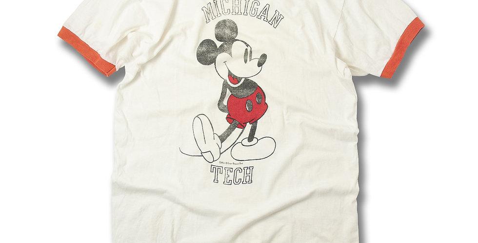 1970年代 ミシガン工科大学 ミッキーマウス リンガーネックTシャツ