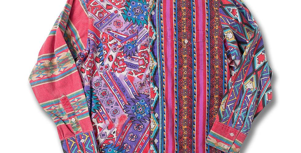 1990年代 Panhandle Slim ウエスタンシャツ クレイジーパターン