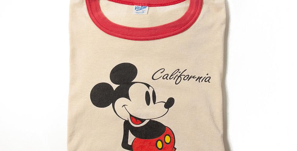 【L】1990年代 ビンテージ ミッキーマウス Tシャツ M-25