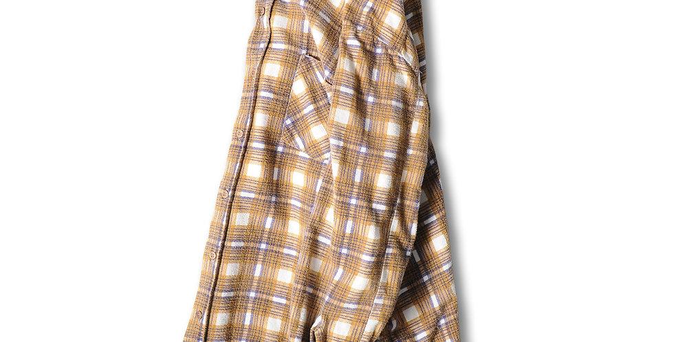 1980年代 JCPENNEY プリントフランネルシャツ ブラック ベージュ ホワイト