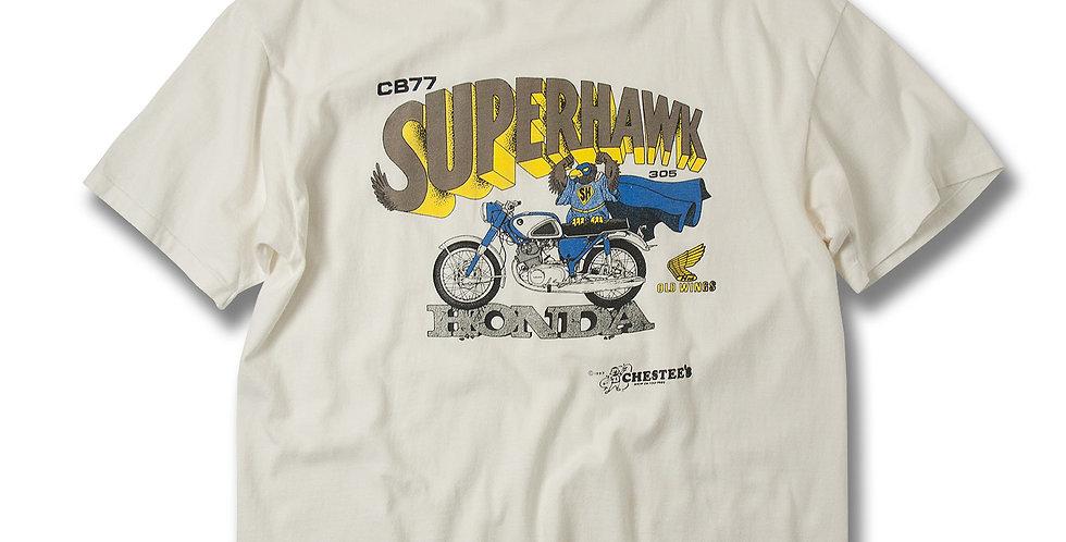 1990年代 HONDA CB77 SUPERHAWK プリントTシャツ