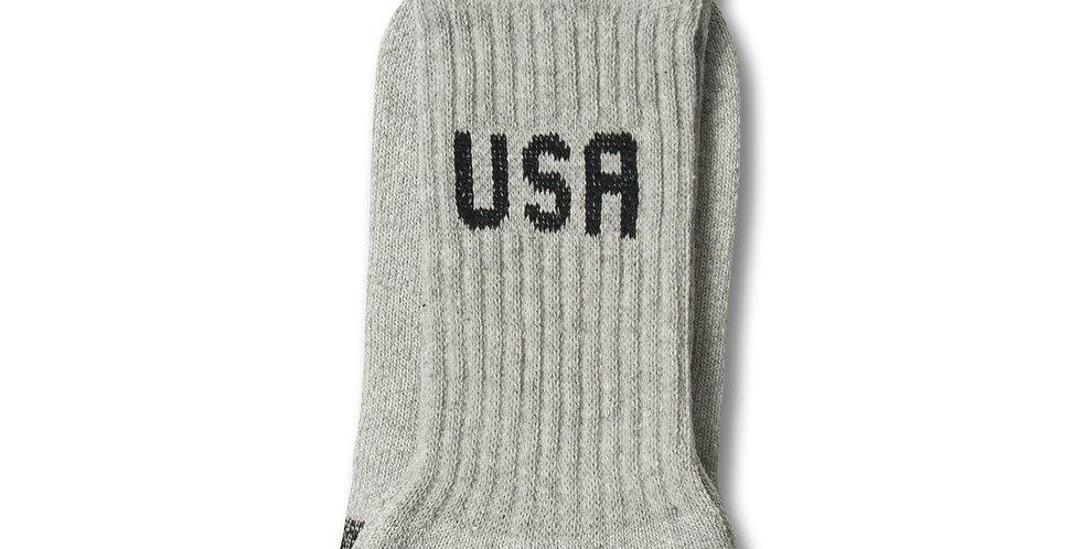 """アラバマホールセールソックス """"USA ソックス"""" MADE IN USA GRAY 6-8"""