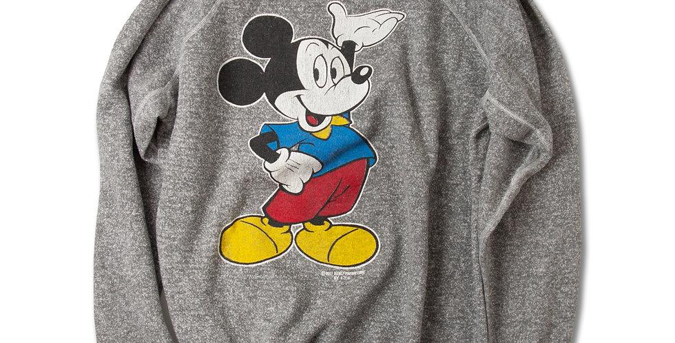 1980年代 ビンテージ ミッキー ラグランスリーブ スウェットシャツ