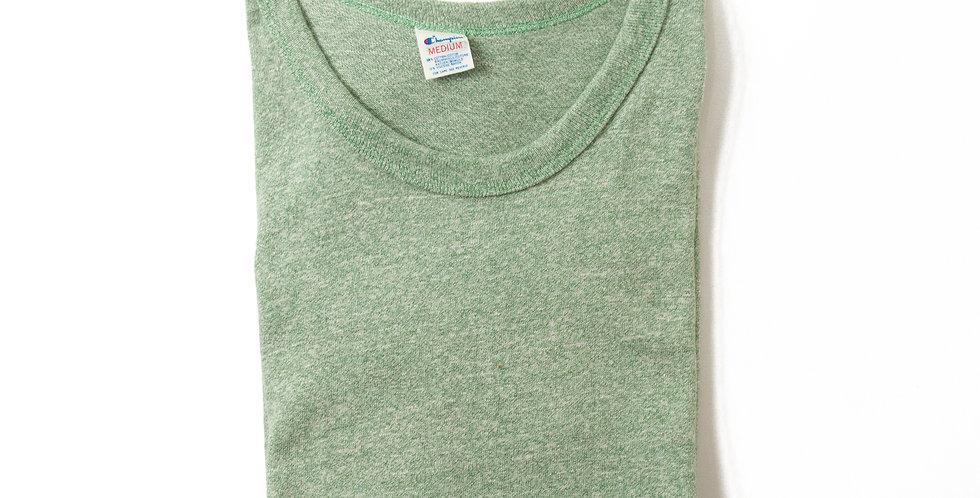1980年代 チャンピオン 8812 杢グリーン ブランクTシャツ MEDIUM