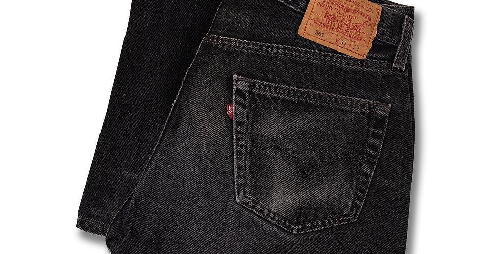 1999年製 リーバイス501 ブラックジーンズ アメリカ製 W34