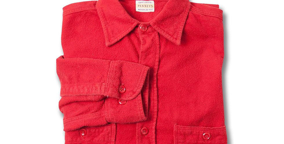 1960年代 PENNEY'S ライトフランネルシャツ ブランクレッド