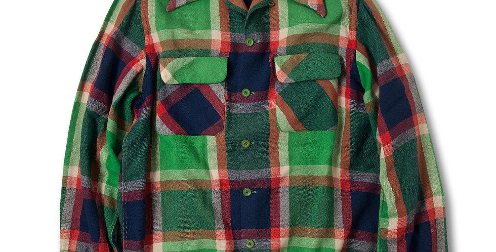 1950年代 マクレガー ウールシャツ グリーン/オレンジ/ネイビー