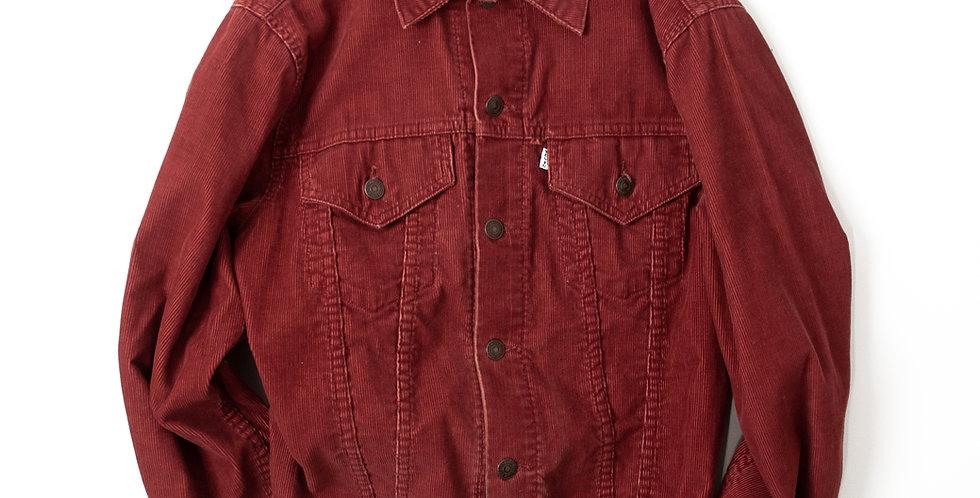 1970年代 リーバイス 70505 コーデュロイ ジャケット バーガンディ サイズ38