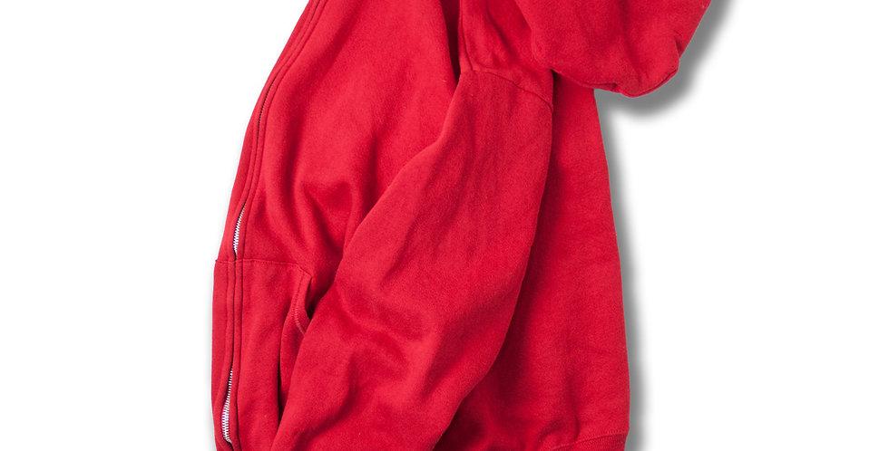 1990年代 JERZEES アメリカ製 フルジップパーカー 赤