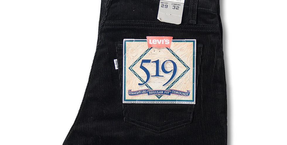 デッドストック 1990年代 リーバイス 519-1558 コーデュロイパンツ ブラック W29 L32