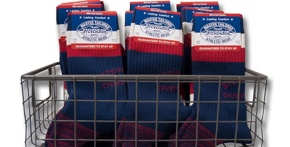 STEVENSON OVERALL Athletic Socks Navy 7 - 10