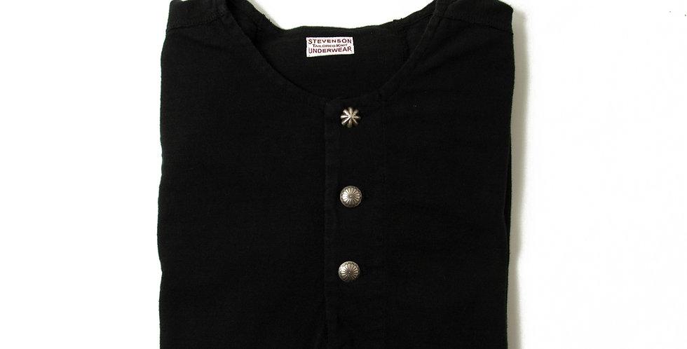 雑誌LEON別注 STEVENSON OVERALL ヘンリーネックTシャツ ブラック