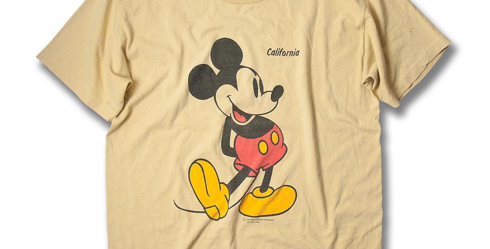 1980年代 Sherry ミッキーマウス  Tシャツ バターカラー