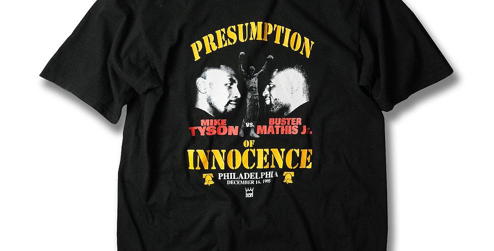 1995年 マイクタイソン VS バスターマシス ジュニア Tシャツ