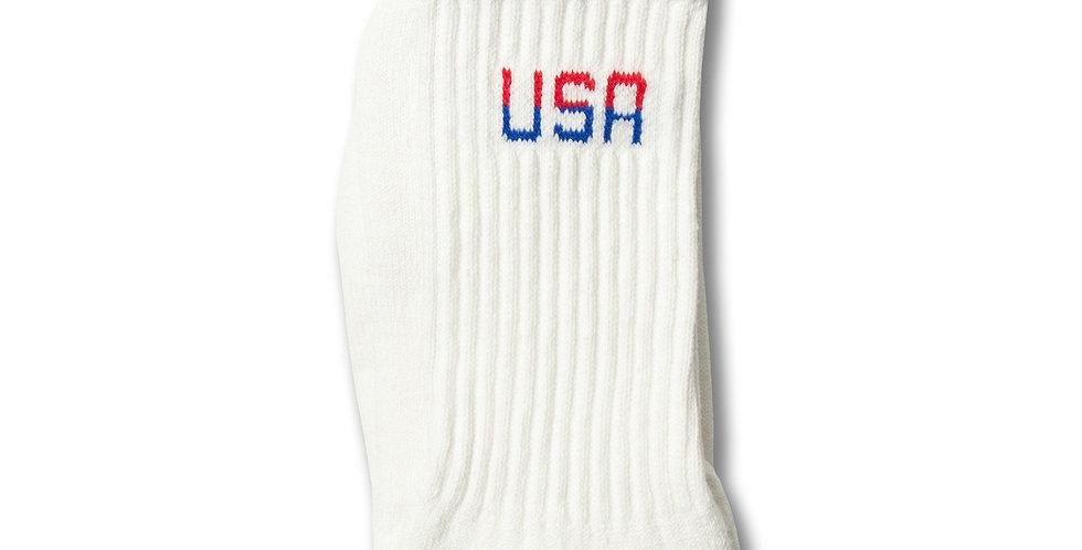 """アラバマホールセールソックス """"USA ソックス"""" MADE IN USA WHITE 9-11"""