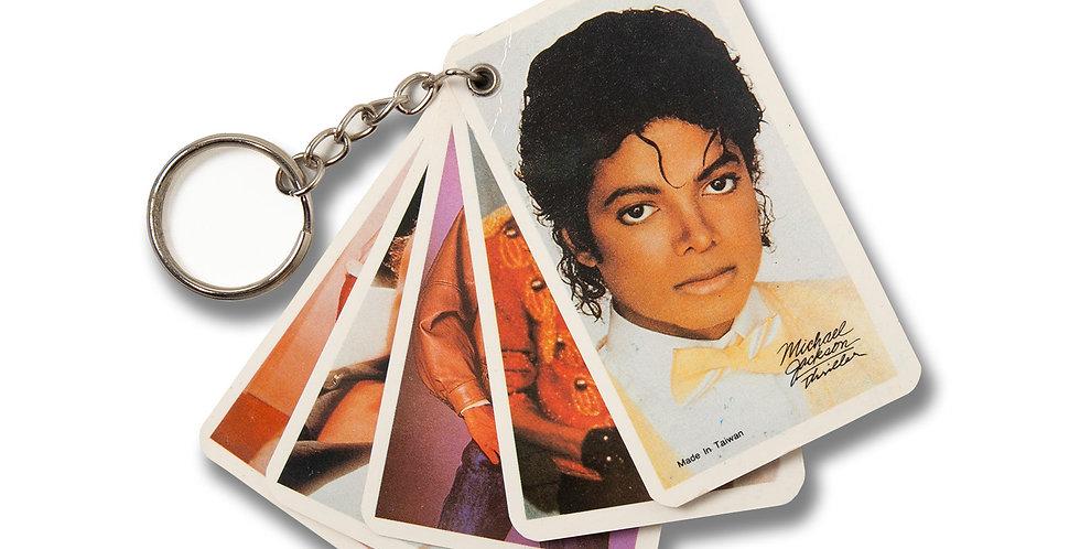 1980年代 マイケルジャクソン スリラー フォトキーホルダー
