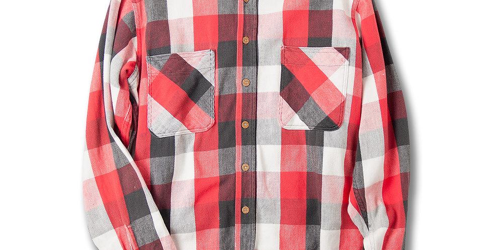 1980年代 BIGMAC ヘビーフランネルシャツ ブロックチェック M