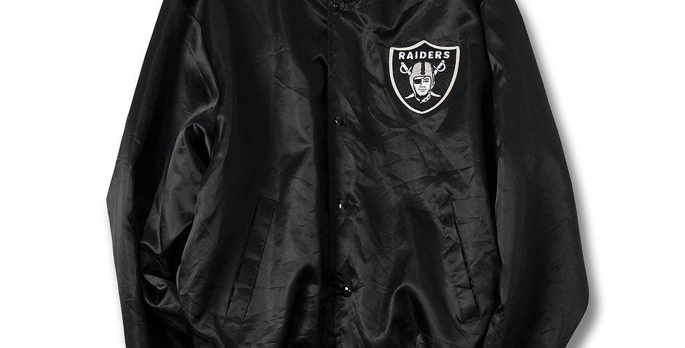 1980年代 LA RAIDERS ナイロンレターマンジャケット