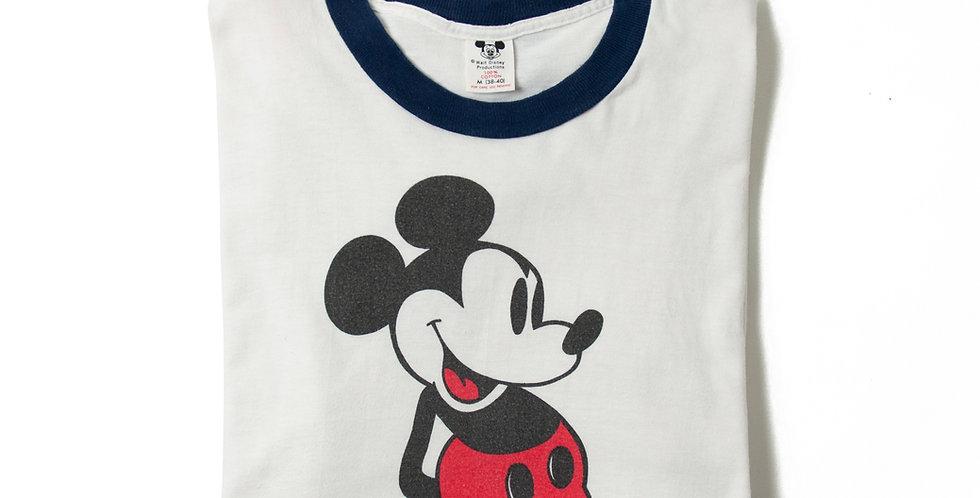 【M】1980年代 ビンテージ ミッキーマウス Tシャツ M-26