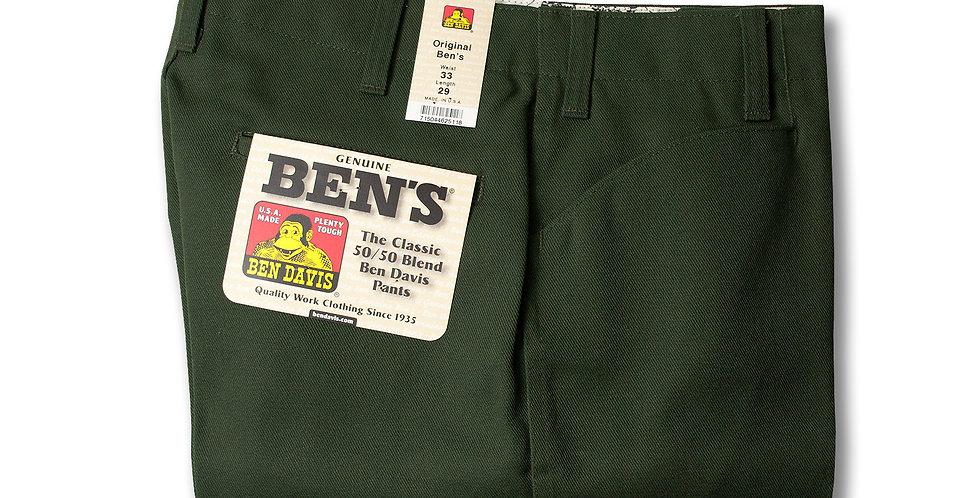 【33 x 29】1990年代 BEN DAVIS MADE IN USA Ben's デッドストック オリーブ