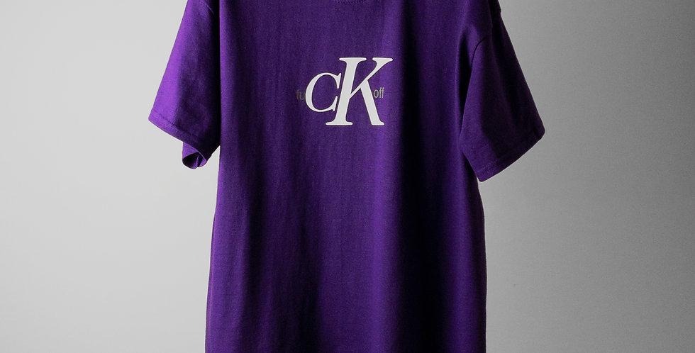 fu CK off Tシャツ パープル