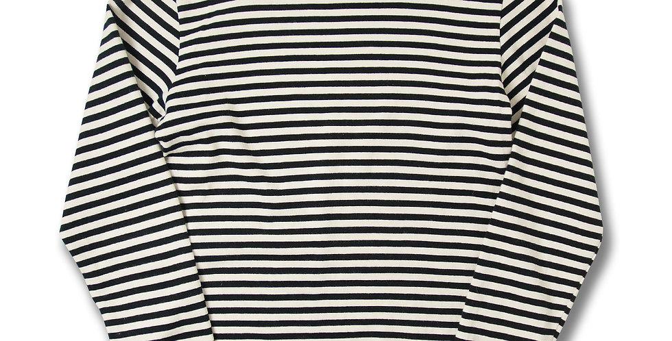 1980年代ソビエト連邦軍 バスクシャツ ブラック x ホワイト M