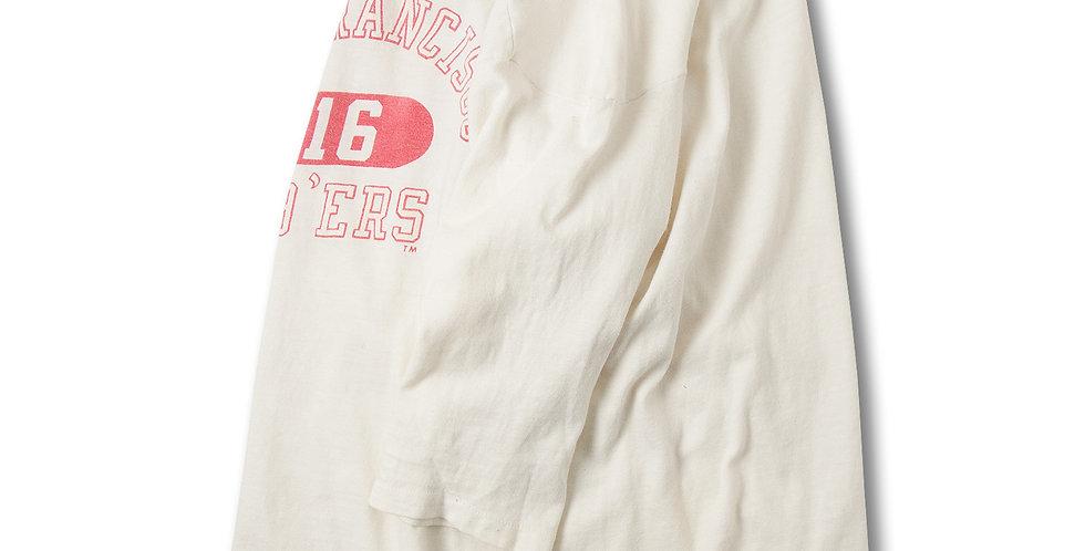 1980年代 チャンピオン ブルーバータグ コットン フットボールTシャツ
