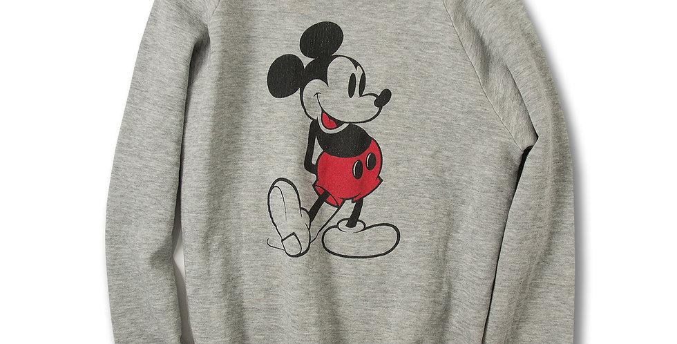 1980年代 ミッキーマウス ラグランスリーブ スウェット LARGE