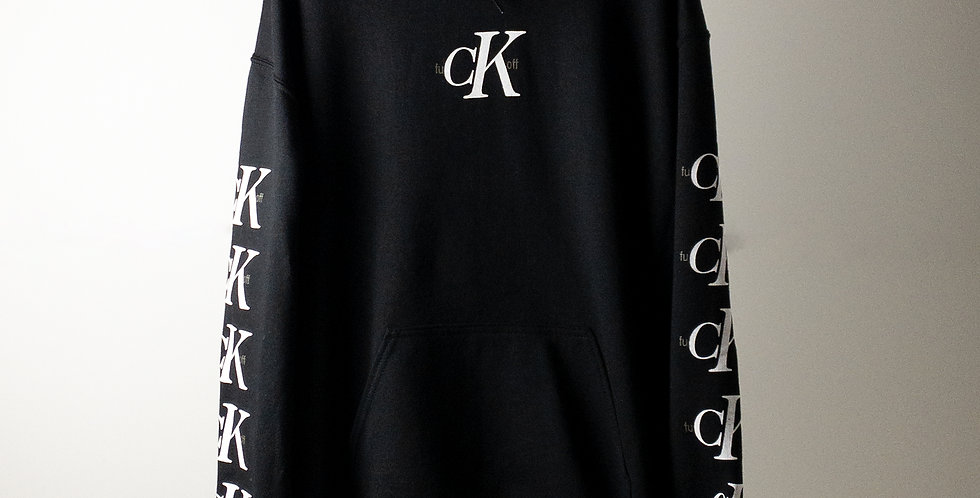 fu CK off パーカー ブラック