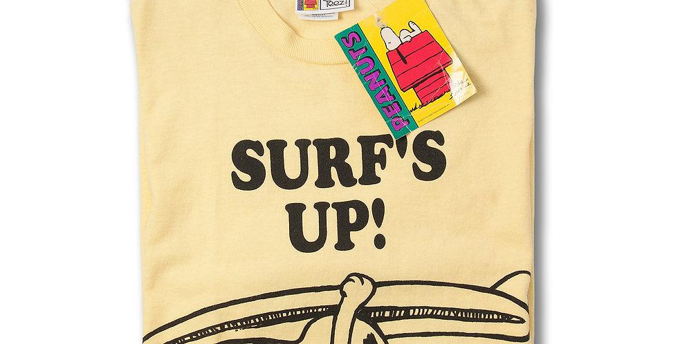1990年代 NOVEL Teez x PEANUTS SURF'S UP Tシャツ デッドストック